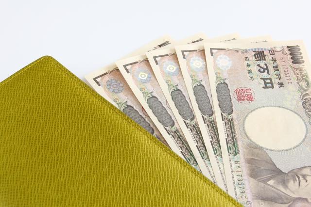 黄色の財布