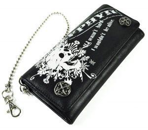 ドクロ柄の財布
