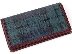 チェック柄の財布